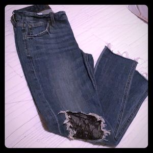 Like New! Joes Jeans with lace knee accent (25)